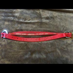 Versace Sport Pink Studded Logo Belt Iraly size 70